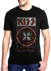 CAMISETA ROCK AND ROLL OVER TOUR 76-77 KISS