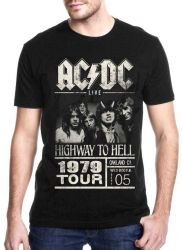 CAMISETA AC/DC HIGHWAY TO HELL TOUR 79