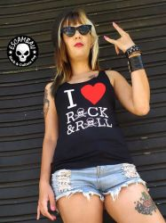 REGATA  FEMININA I LOVE ROCK & ROLL