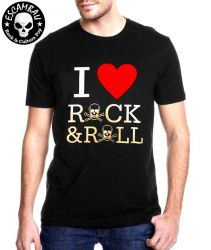 CAMISETA I LOVE ROCK & ROLL
