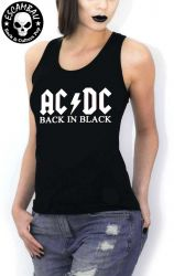 REGATA  FEMININA AC/DC BACK IN BLACK
